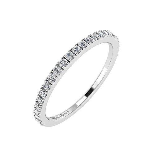 [IGI Certified 10K White Gold Wedding/anniversary Diamond Band Ring (0.21 Carat)] (Certified Diamond Band Ring)