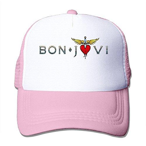 (Cool Bon Jovi Rock Trucker Cap Baseball Hat (5 Colors) Pink )