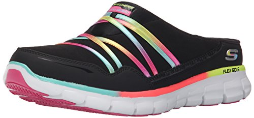 Skechers Sport Vrouwen Air Streamer Slip-on Mule Zwart / Multi