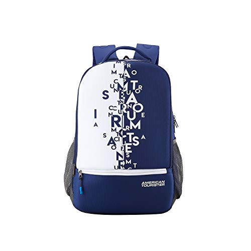 American Tourister 32 Ltrs Blue Casual Backpack (AMT FIZZ SCH BAG 02 – BLUE)