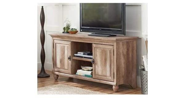 Amazon Com Tv Stand For 65 Inch Tv Weathered Oak Wood With