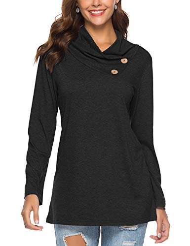 cowl neck top long sleeve - 7