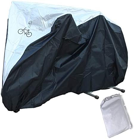 HSGZIS Fahrradabdeckungen - Fahrradstaub-Regenschutz Für Den Innen- Und Außenbereich - Elastische Säume Sicherheitsschnalle Verriegelungslöcher,L