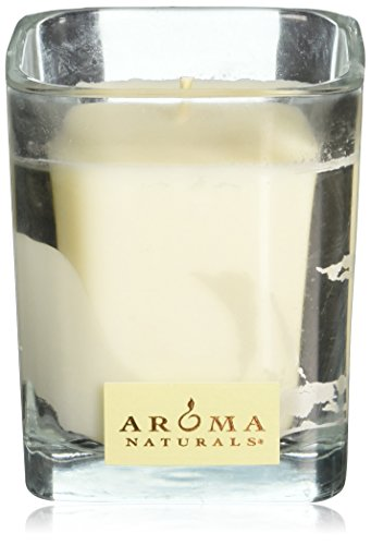 Aroma Naturals Holiday Candle (Aroma Naturals Wish Holiday Square Glass Soy Candle, Peppermint and Vanilla, 6.8 Ounce)