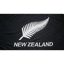 New Zealand Black Fern Flag 8ft x 5ft Huge - 100% Polyester - Metal Eyelets - Double Stitched