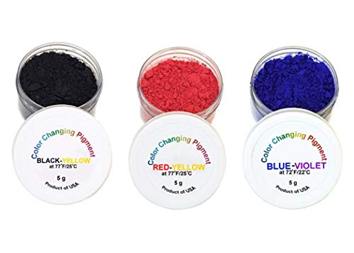 ATLANTA CHEMICAL ENGINEERING Temperature Activated Thermochromic Powder Pigments Multicolor Pack Perfect for Color Changing Slime Science Experiments Nail Polish Resin Jewelry
