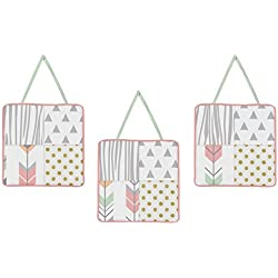 Wall Hanging Accessories for Coral, Mint and Grey Woodsy Girls Collection