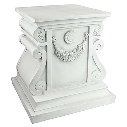 (Design Toscano Classic Statuary Garden Plinth Base Riser, Large 15 Inch, Polyresin, Antique Stone)