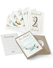 40+1 Baby Meilenstein Karten schöne Geschenkidee zur Geburt, Schwangerschaft, Taufe oder Babyparty Milestone Cards | Meilensteinkarten Geschenkset inkl. Geschenkbox für Junge und Mädchen