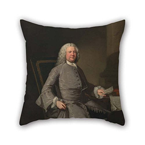 Artsdesigningshop 16 X 16 Inches / 40 by 40 cm Oil Painting James Cranke - Thomas Osborne Pillowcover 2 Sides is Fit for Home Couch Family Gril Friend Lounge Relatives