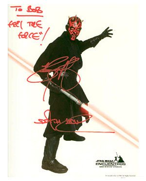 Star Wars- Ray Park Signed