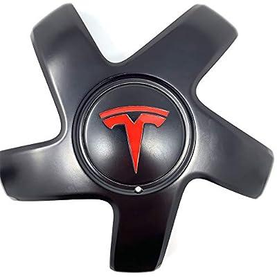 Custom Cut Graphics Tesla Model 3 Logo Decal Wrap (Gloss Red): Automotive