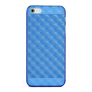 Blue Transparent Soft Silica Gel Case Cover for Apple iPhone 5/5S --- COLOR:Pink
