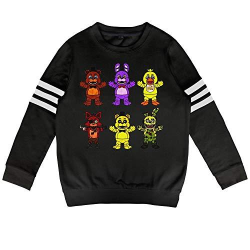 Five-Cool-Nights-at-Freddy-Original- Child Black Crewneck Sweatshirt Cute Heavy Blend Volleyball Suit