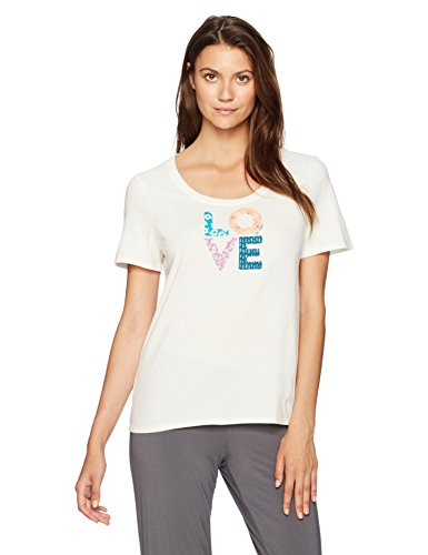 Life is good The Snuggle Up Love Patterns Tee, Simply Ivory, (Good Womens Sleep Tee)