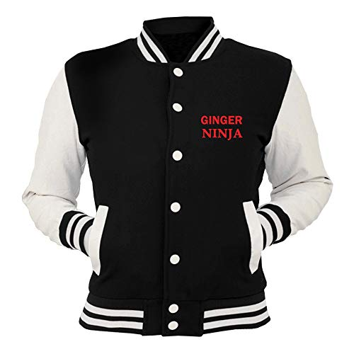 Pin Nera 25mm Humour Button T Badge Giacca Ninja shirtshock Hair Ginger Fun College Tr0053 1 Joke q44ztwxa0n