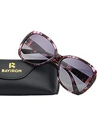 Womens Butterfly Sunglasses Oversized Marbles Polarized UV400 Glasses