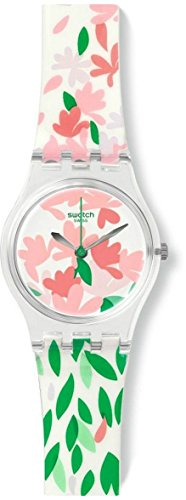 Swatch Jackaranda Floral Dial Silicone Ladies Watch LK355