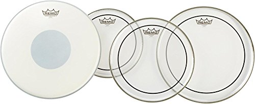 Remo PP1900-PS Clear Pinstripe Drumhead ProPack with 14-Inch Controlled Sound X Snare Head