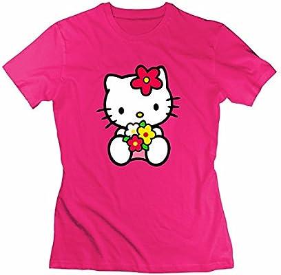Mac Hello Kitty gris las mujeres diatinguish T Shirt Camiseta personalizada: Amazon.es: Deportes y aire libre