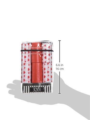 NVMK SALES Nandog Waste Bag Replacements (16 Pack), Red Hearts
