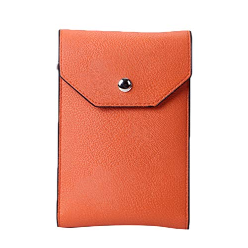 Single Bag Crossbody Mini Orange Kairuun Leather Clutch Artificial Phone Multifunctional Shoulder Women Bags Cell Wallet pn5wqw4g