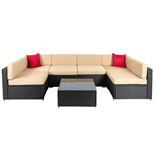 Best choiceproducts 7 piece outdoor patio garden furniture for Best buy patio furniture
