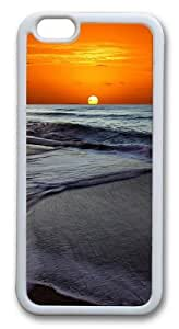 iphone 6 plus Case,Memorable Sunset Beach TPU Custom iphone 6 plus Case Cover Whtie