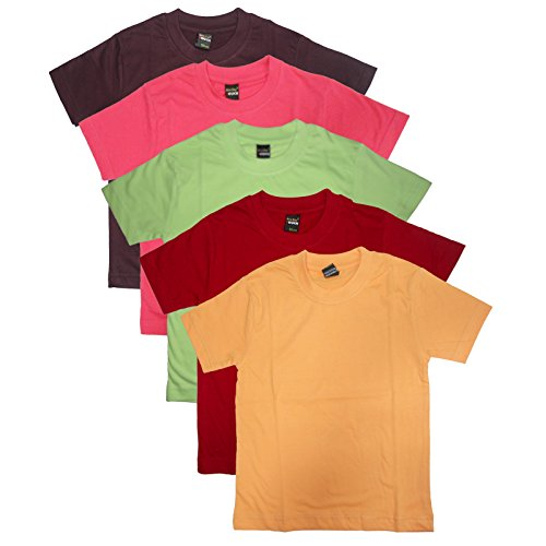 New Day Little Boys' Cotton T-Shirt (Pack Of Five) 6-7 Years Multi-Coloured from New Day