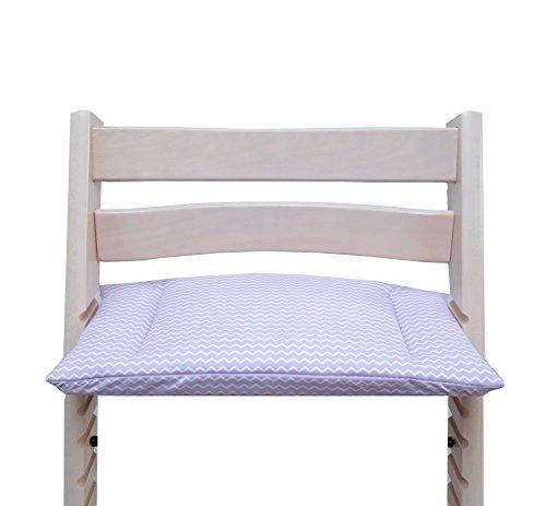 Blausberg Baby - Cushion for Tripp Trapp High Chair of Stokke - Lilac Chevron