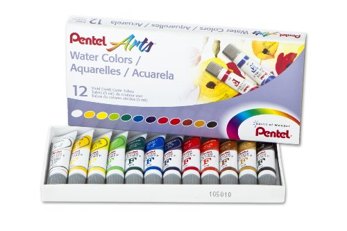 Pentel Water Colors Assorted WFRS 12 product image