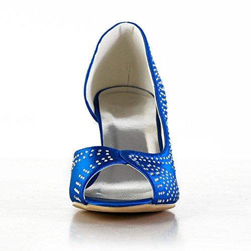 Minitoo Blue bleu femme 8cm pour Heel Sandales BnABrOq6