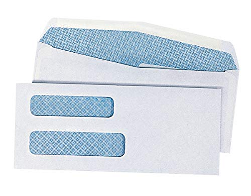 (Universal Envelope, 3-5/8 x 8-5/8, Dble Window, 0 - pkg. of 500)