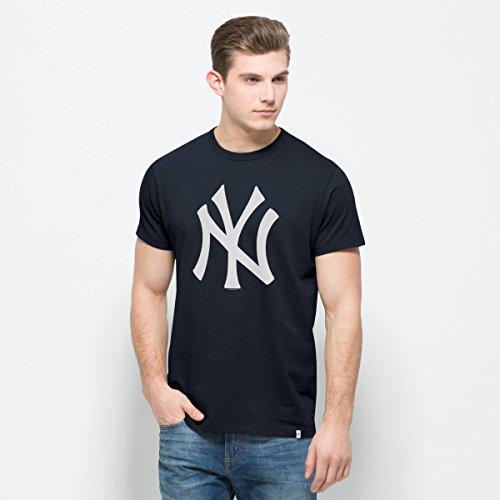 MLB New York Yankees Men's All Pro Flanker Tee, Fall Navy, XX-Large
