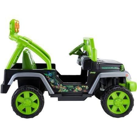 Fisher-Price Power Wheels Teenage Mutant Ninja Turtles Jeep Wrangler 12-Volt Battery-Powered ...