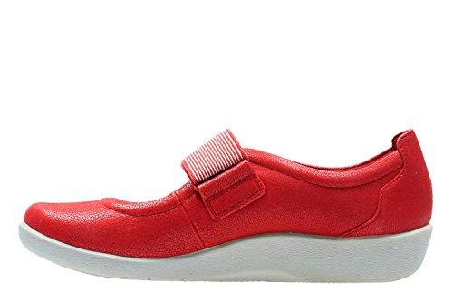 Clarks Freizeit Damen Sillian Cala Textil Halbschuhe In Rot