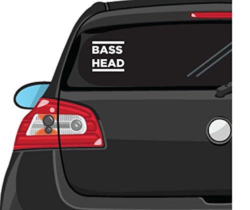 BASS HEAD EDM Decal Vinyl Sticker|Cars Trucks Vans Walls Laptop| WHITE |5.5 x 5.25 in|CCI627