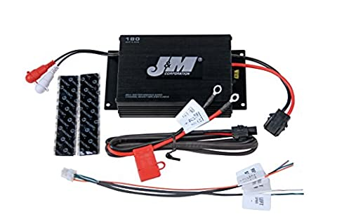 J&M Performance Series JMAA-1800 180w RMS 2-Channel Audio Amplifier for Motorcycle/Auto/Marine/ATV (Crossover 8 Ohm Speaker 2 Ohm)