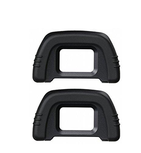 CEARI [2 Pack] DK-21 Rubber Eyecup Eyepiece Viewfinder for Nikon D7000 D750 D610 D600 D300 D200 D100 D90 D80 D70 D70s DSLR Camera + Microfiber Clean Cloth