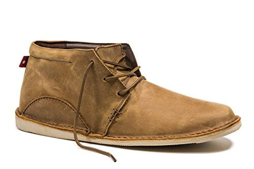 Oliberte Men's Adibo Rustic Brown Pullup 42/9 Chukka Boot by Oliberte
