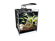 "Lifegard 8.3 Gallons Beveled Edge Low Iron Ultra Clear Aquarium with Back Filter - 11.81"" x 11.81"" x 13.77"", Model Number: R460051"