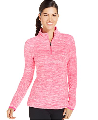 Ideology Pink Space-Dye Half-Zip Fleece Pullover Small (Space Dye Pullover compare prices)