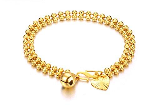 SunIfSnow Mom Allergy-Plated 18K Love Bell Beads Bracelet