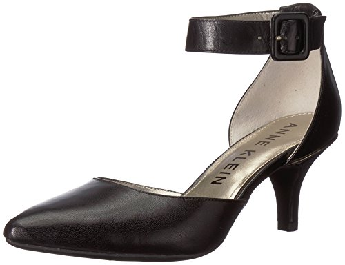 Anne Klein Women's Fabulist Leather Dress Pump, Black, 8 M US