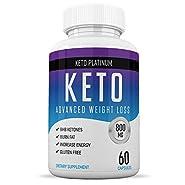 Keto Pills from Shark Tank - Ketogenic Fat Burner - for Women & Men - Promotes Healthy Energy Levels - Burn Belly Fat Fast - Carb Blocker - Keto Platinum - 60 Capsules