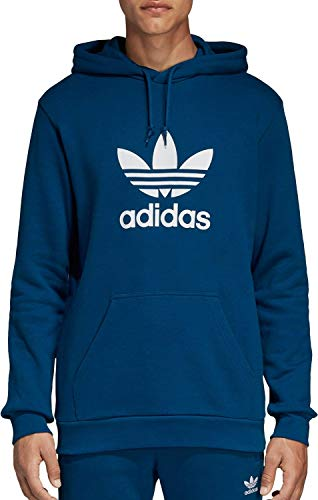 adidas Originals Men's Trefoil-Hoodie, legend marine, Large