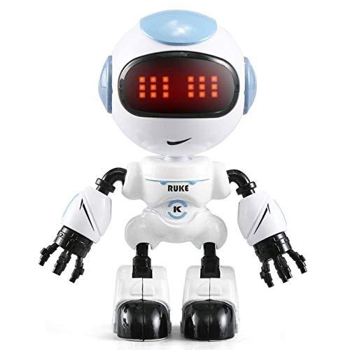 BeesClover R8 RC Robot Touch D\u00e9tection LED Yeux Smart Voice DIY Corps Gesture Action Mod\u00e8le Jouet pour Enfants Early Education R8blue
