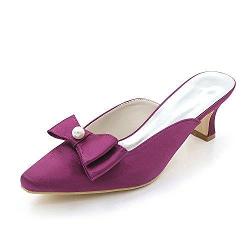 L@YC Women'S Shoes Low Heels High Heels / Night / Slippers Sandals Wedding Party Purple gGrr13w