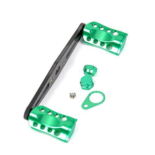 (JEKOSEN New Replacement Carbon Fiber & 6061 Aviation Aluminum Fishing Reel Handle knobs Accessories for Baitcasting Rocker)