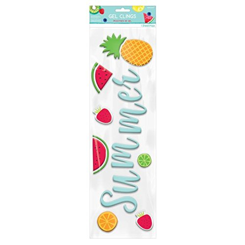 Amscan 242145 Summer Luau Fruit Gel Clings, 19